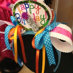 Birthday Headband...photo taken with my iPhone in a shop in St. Charles, MO