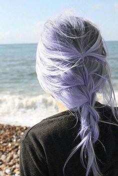 Purple white and black roots