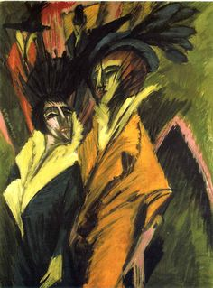 Two Women at the Street - Ernst Ludwig Kirchner