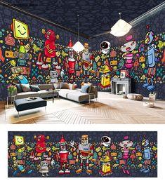 mural space comics idecoroom idcqw robotic entire decal theme