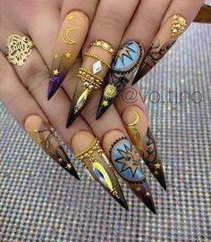Nagellack Design, Nagellack Trends, Best Acrylic Nails, Acrylic Nail Designs, Stylish Nails, Trendy Nails, Sunflower Nails, Fire Nails, Luxury Nails