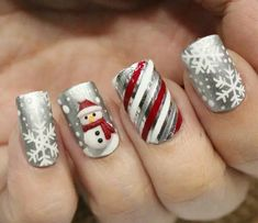 Cable Knit Nails The Latest Trend This Season – Stylendesigns 21 Fabulous and Easy Christmas Nail Designs: Fashionable Silver Nail Design for Christmas Related posts:Christmas Nail Art Designs To Look Trendy This Season. Silver Nail Designs, Holiday Nail Art, Christmas Nail Art Designs, Winter Nail Art, Cute Nail Designs, Christmas Ideas, Christmas Design, Christmas Snowman, Pretty Designs