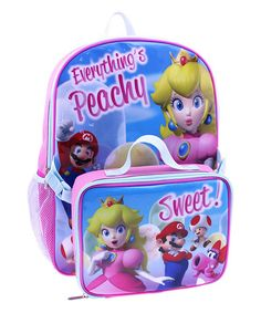 Look at this Mario & Princess Peach Backpack & Lunch Bag on #zulily today!