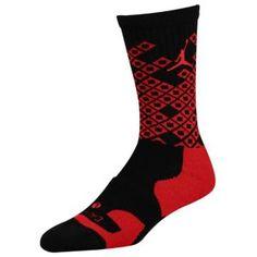 Jordan Players Crew Sock - Men's - Basketball - Accessories - Black/Gym Red Fashion Socks, Mens Fashion, Basketball Accessories, Adidas Socks, Sock Crafts, Cozy Socks, Winter Socks, Men's Basketball, Brittany