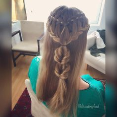 Summerbraid 🌸🌸🌸 . . #fourstrandwaterfallbraid #ladderbraid #fauxfishtailbraid #neljäosainenvesiputousletti #tikapuuletti…