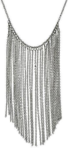 Maxi colar com banho onix c/ correntes penduradas