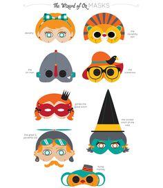 Oz Masks   ☀CQ #paper #printables #templates #crafts #how-to #DIY