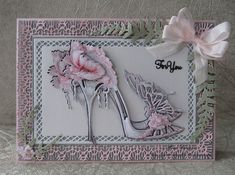 Carnation Crafts and tattered Lace Card Making Inspiration, Making Ideas, Chloes Creative Cards, Stamps By Chloe, Tattered Lace Cards, Handmade Birthday Cards, Handmade Cards, Shaped Cards, Lace Flowers
