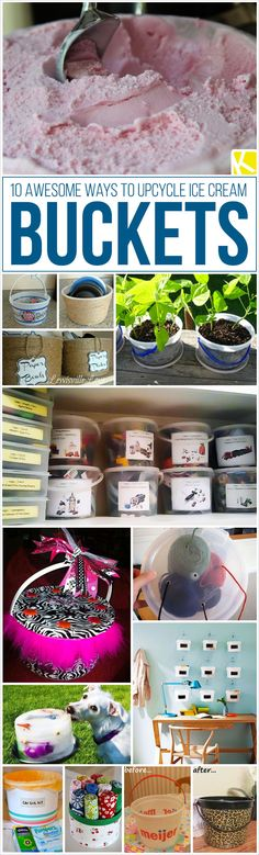 10 Awesome Ways to Upcycle Ice Cream Buckets