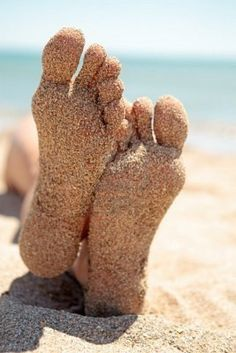 ...the feeling of getting your feet in the sand when you first get to the beach #rollonsummer
