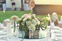Wedding Table Decorations Flowers Beautiful Garden | visit www.lovelyweddingideas.com