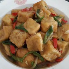 15 Resep olahan tahu sederhana instagram Fruit Salad Recipes, Tofu Recipes, Asian Recipes, My Recipes, Chicken Recipes, Cooking Recipes, Ethnic Recipes, Indonesian Recipes, Recipies