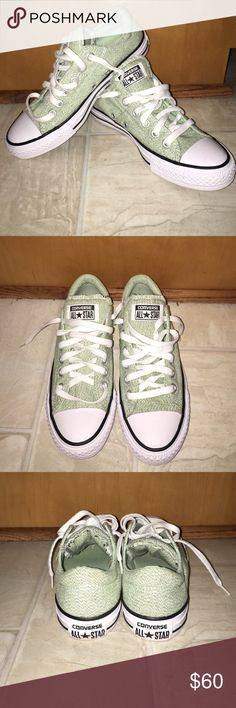 Mint Green Converse Sneakers Reposhing: adorable brand new mint green Converse's. Super comfy and cute but realized they do not go with much in my closet and haven't worn them since I bought NWT. Too cute to not be worn and trying to get my money back. Price firm. Converse Shoes Sneakers