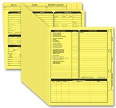 Off Real Estate Folder Right Panel List Legal Size Blue