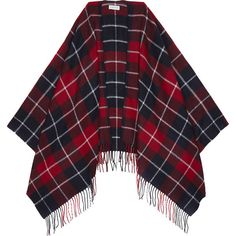 Claudie Pierlot Azelie tartan scarf found on Polyvore featuring accessories, scarves, patterned scarves, plaid shawl, tassel scarves, plaid scarves and tartan scarves