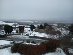 The 12th century Aghadoe Church surrounded by snow this morning