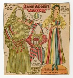 10-15-33 Jane Arden paper doll / thestrong.org