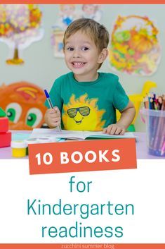 Help your child get ready for Kindergarten with these 10 books!  Great books to read with your child to help them understand and prepare for what their new school year will look like!