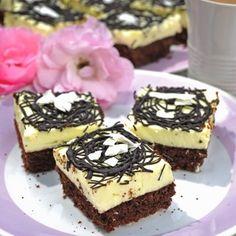 Recept: Eskymo řezy   iGurmet.cz Baking Recipes, Dessert Recipes, Czech Recipes, Pavlova, Sweet Desserts, Sweet Tooth, Cheesecake, Deserts, Food And Drink
