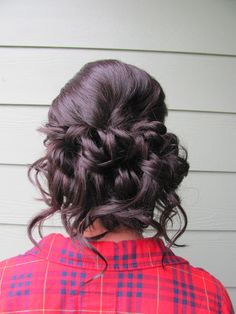 Prom hair, prom updo my hair and makeup designs Prom Updo, Prom Hair Updo Elegant, Black Hair Hairstyles, Fancy Hairstyles, Weave Hairstyles, Updo Hairstyle, Ewok, Hair Styles 2014, Long Hair Styles