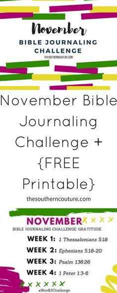 November Bible Journaling Challenge Plus FREE Printable - Southern Couture Psalm 136, Psalms, Clever Inventions, Bible Coloring Pages, 1 Thessalonians, Scripture Cards, Journal Pages, Bible Journal, Word Of God