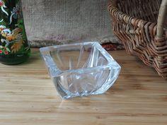 Vintage Glass Ashtray  Retro  Boho. Home Decor Vintage Glass Old Glass Shabby Chic by Route46Vintage on Etsy