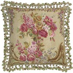 Needlepoint Floral Pillow...