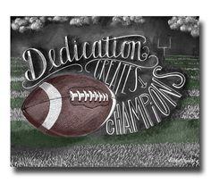 Football Decor Football Art Chalk Art Chalkboard by TheWhiteLime