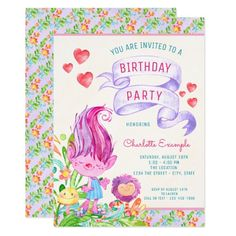 65 best 15th birthday party invitations images on pinterest in 2018 troll birthday party invitations filmwisefo