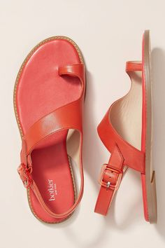 Botkier Toe Ring Slingback Sandals by in Red Size: at Anthropologie Gemstone Engagement Rings, Beaded Rings, Toe Rings, Belly Rings, Slingback Sandal, Diamond Wedding Bands, Unique Rings, Crystal Earrings, Leather