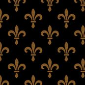 14th Century Fleur De Lys ~ Gold and Black  by peacoquettedesigns