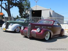 1936 Plymouth Coupe and a 1940 LaSalle coupe - Gambino Sit Down Custom Car show