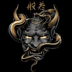 BLACKOUT BROTHER - HANNYA - monster - old school frases hombres hombres brazo ideas impresionantes japoneses pequeños tattoo Japanese Mask Tattoo, Japanese Tattoo Designs, Japanese Sleeve Tattoos, Samurai Maske Tattoo, Hannya Samurai, Monster Tattoo, Kunst Tattoos, Body Art Tattoos, Oni Maske