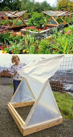 Get inspired ideas for your greenhouse. Build a cold-frame greenhouse. A cold-frame greenhouse is small but effective. Greenhouse Farming, Build A Greenhouse, Greenhouse Ideas, Greenhouse Wedding, Diy Small Greenhouse, Homemade Greenhouse, Cheap Greenhouse, Greenhouse Shelves, Greenhouse Film