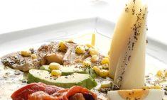 Receta de Ensalada de morrones con aguacate y palmito