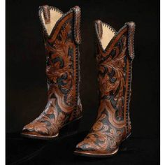 Absolutely gorgeous boots from Leddy's in the Fort Worth Stockyards. Held them in my hand this past weekend and it was painful to put them down. Cowgirl Outfits, Cowgirl Boots, Western Boots, Cowgirl Fashion, Western Style, Shoe Boots, Shoes Sandals, Tall Boots, Heels
