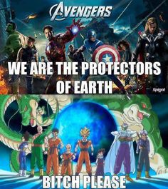 Dragon Ball Z Meets The Avengers…