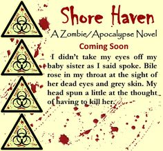 I have about 4,000 words to go before meeting my 70,000 word count goal by the end of the year. If the rest of the week goes as smoothly as today has been so far, I should meet that goal. :) :)  Here's short excerpt. Enjoy. :) #shorehaven #wip #zombie #apocalypse #jenniferreynolds
