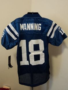 Reebok NFL Indianapolis Colts Peyton Manning Youth Football Jersey NWT XL #IndianapolisColts