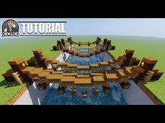 Could you build a minecraft rope bridge? So we came up with 3 different styled Rope Bridges for you. In this tutorial we will be going over ho. Art Minecraft, Minecraft Bridges, Minecraft Building Guide, Minecraft Structures, Minecraft Castle, Minecraft Medieval, Cute Minecraft Houses, Minecraft Plans, Minecraft Survival