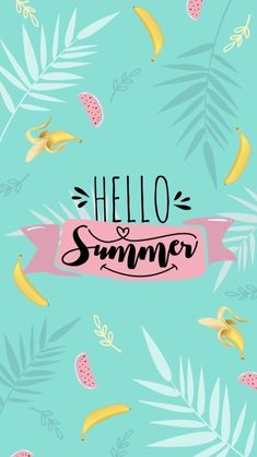 hello summer Bon jhsite pour la suite de m - summer Cute Summer Wallpapers, Summer Backgrounds, Cute Wallpaper Backgrounds, Wallpaper Iphone Cute, Pink Wallpaper, Pretty Wallpapers, Disney Wallpaper, Cool Wallpaper, Mobile Wallpaper