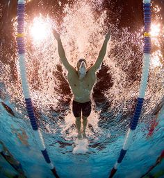 The Olympics produced some fantastic underwater camera angle shots. Here's one of Phelps in Sports Illustrated. http://sportsillustrated.cnn.com/multimedia/photo_gallery/1207/leading-off-070112/content.1.html