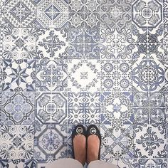 This week's #regram is for these blue #tuttifruttiles by @bellaanatalia!  Thanks for spreading the #TileAddiction! by tileaddiction