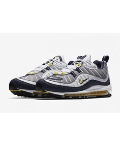 7db82ff57682 Cheap Nike Air Max 98 Og White Navy Yellow Sale Cheap Nike Air Max