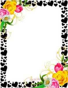 Frame Border Design, Page Borders Design, Boarder Designs, Photo Frame Design, Front Page Design, Page Boarders, Boarders And Frames, Flower Background Design, Free Printable Stationery
