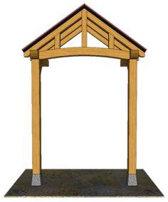 2 POST PORCHES — TIMBER FRAME PORCHES Awning Over Door, Front Door Canopy, Porch Awning, Porch Roof, Door Overhang, House Front Porch, Front Porch Design, Front Deck, Patio Deck Designs