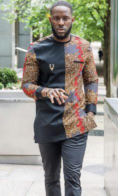African men clothing, African men outfit, African dashiki, dashiki for men, African attire. - Source by - African Shirts For Men, African Dresses Men, African Attire For Men, African Clothing For Men, African Wear, Trendy Clothing, Clothing Styles, Dashiki For Men, African Dashiki