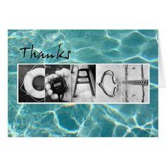 Thanks Swim Coach Card