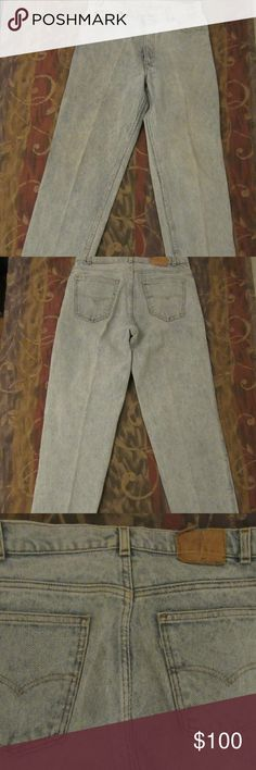 vintage levis jeans 515 button made in usa 36x34 good shape: missing tag and has been hemmed on cuffs  vintage levis jeans 515 button made in usa 36x34   waist appears to measure 35  length appears to measure 31 Levi's Jeans