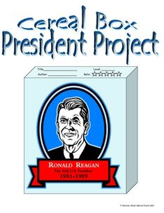 After students research a chosen president, students create a cereal box project, displaying the information they learned. This project includes st...